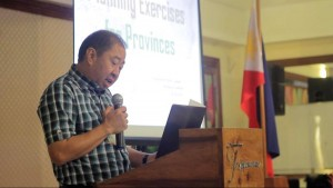 Governor Alfonso Umali giving his thoughts on Planning Exercises for Mindoro
