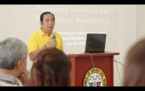 Vice Governor Victorio Suaybaguio delivering his opening   remarks